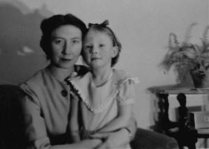 Barbara & Mother 1955
