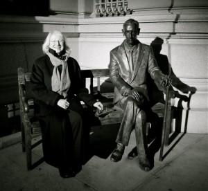 Barbara with Jan Karski, Polish Consulate General, New York City.